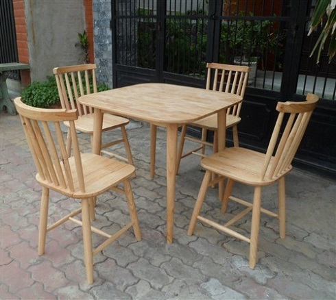 Bàn ghế gỗ cafe Mehico