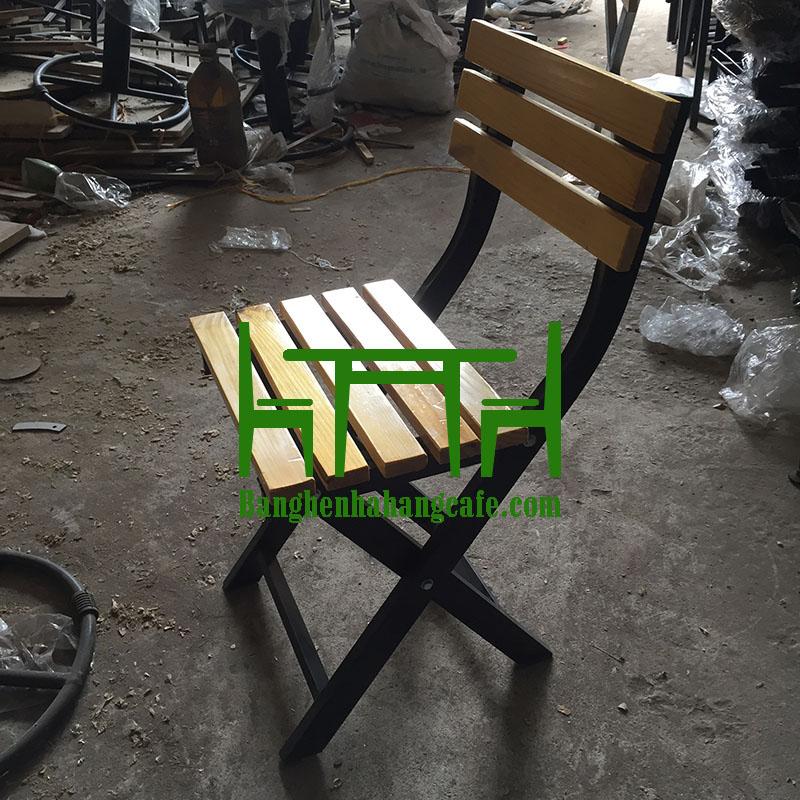 Bàn ghế xếp nhà hàng cafe