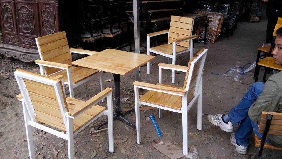 bàn ghế nhà hàng khung sắt MS56