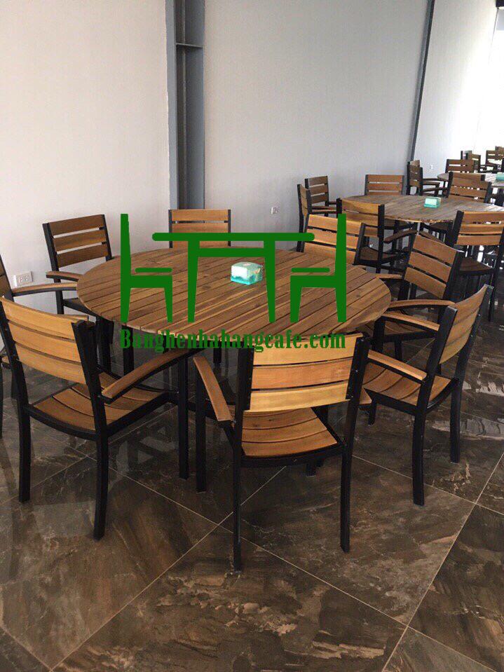 Bộ bàn ghế nhà hàng phòng ăn MS55