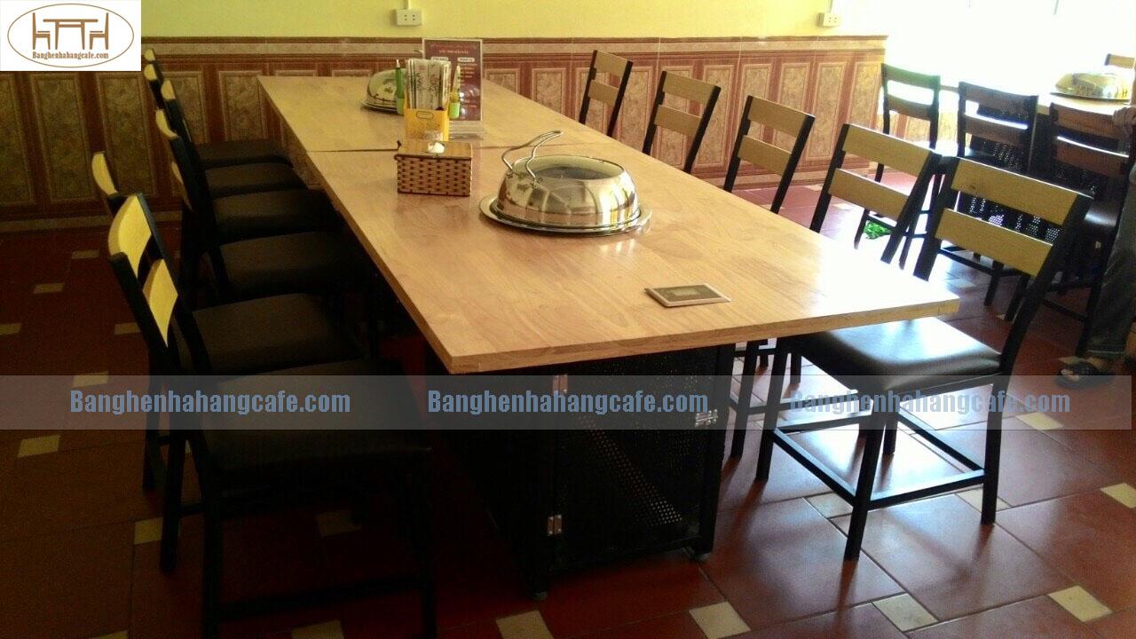 Bàn nhà hàng lẩu nướng không khói bbq