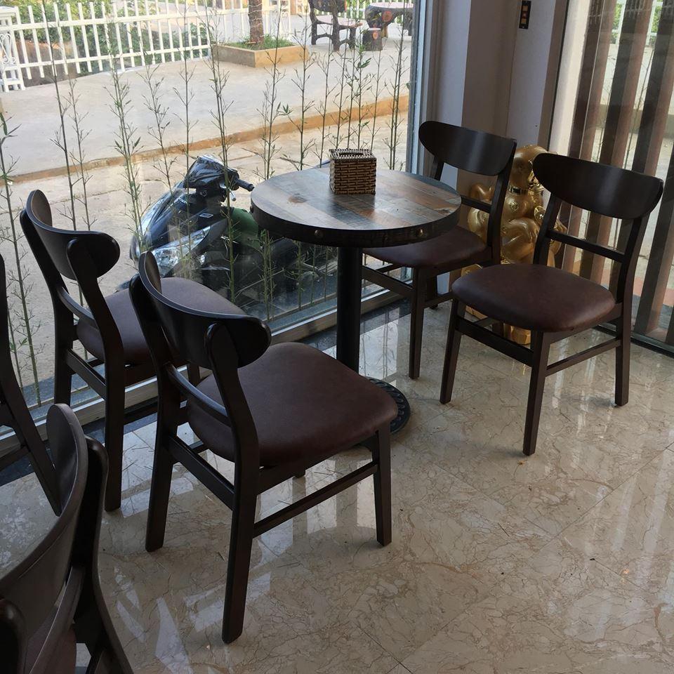 Bàn ghế gỗ cafe giá rẻ Mango