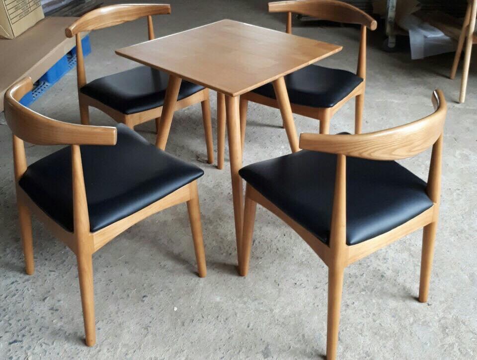 Bàn ghế cafe gỗ đẹp