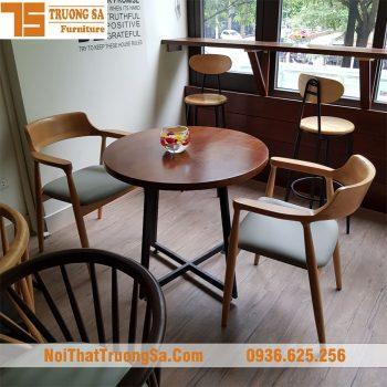 Bàn ghế cà phê cao cấp bằng gỗ đẹp