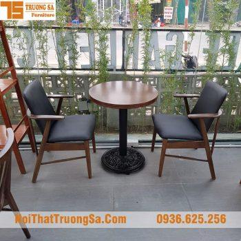 Bàn ghế cà phê chân gang
