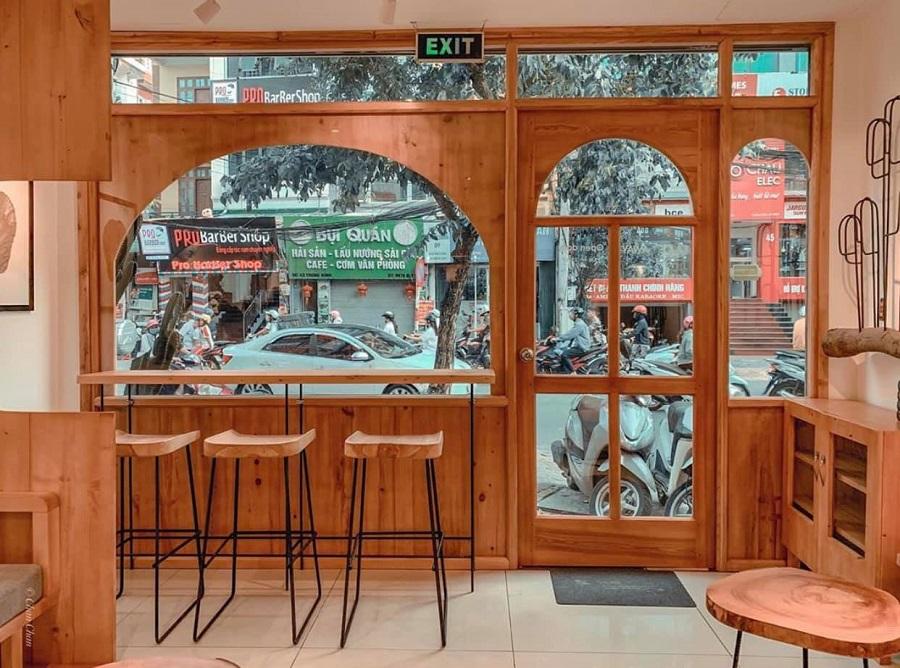 thiết kế quán cà phê góc phố
