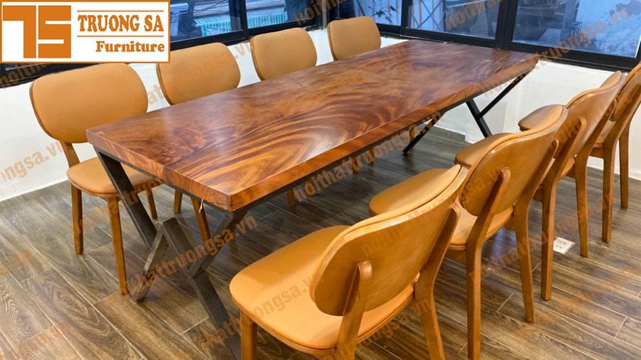 kích thước bàn ăn 8 người chữ nhật