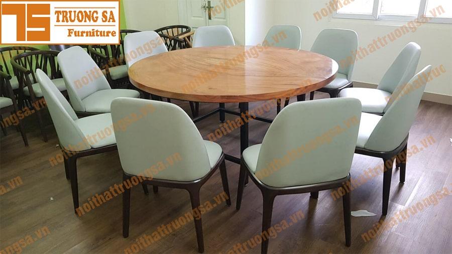 kích thước bàn ăn tròn 10 ghế