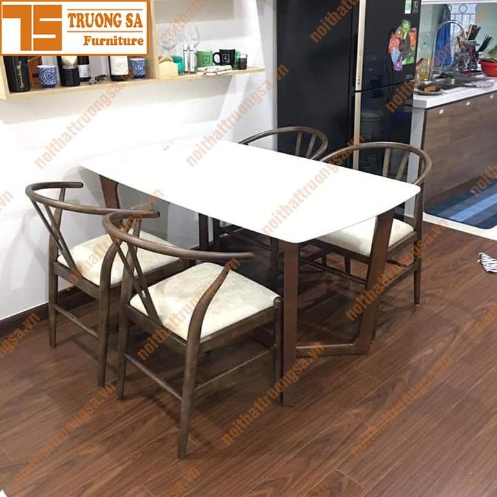 Bộ bàn ăn 4 ghế mặt đá TS394