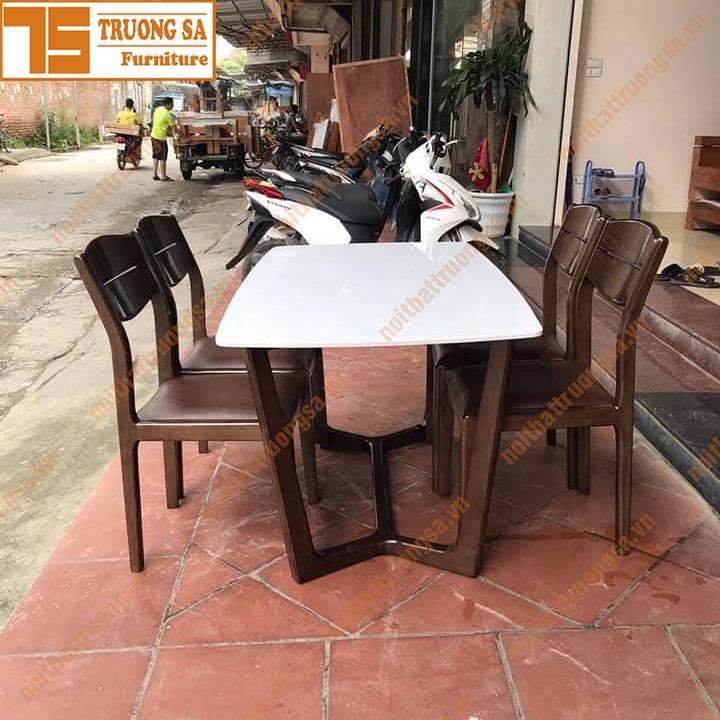 Bộ bàn ăn 4 ghế mặt đá TS396