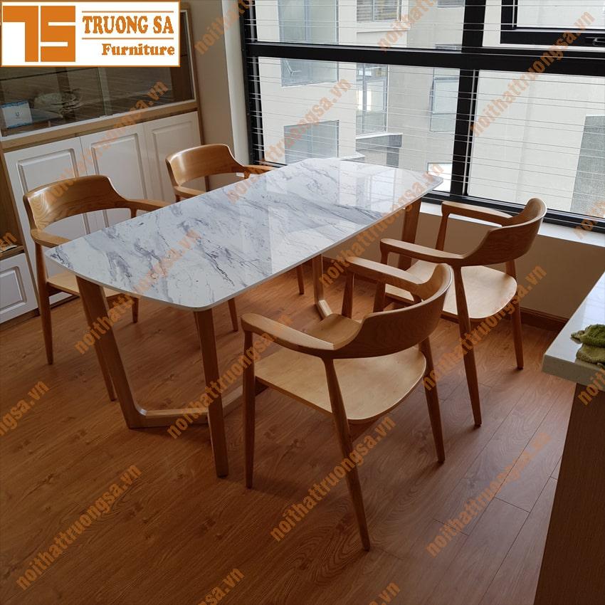 Bộ bàn ăn 4 ghế nhỏ gọn TS367
