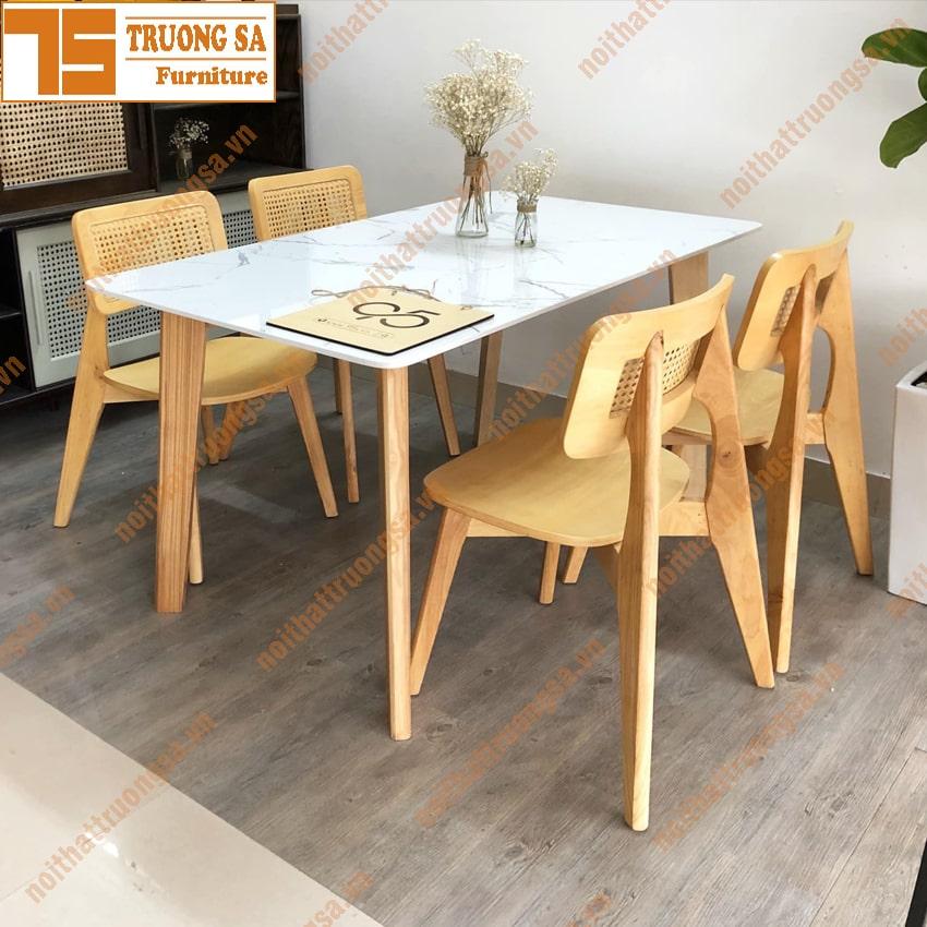 Bộ bàn ăn 4 ghế hiện đại TS368