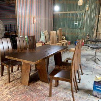 Bộ bàn ăn 6 ghế TS387