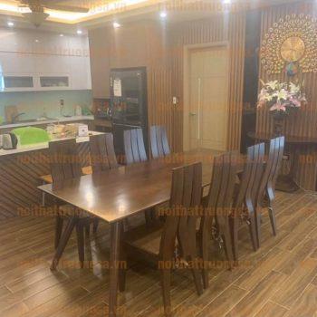 Bộ bàn ăn 8 ghế gỗ TS372