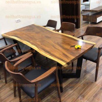 Bộ bàn ăn gỗ nguyên tấm TS366