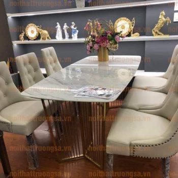 Bộ bàn ghế ăn tân cổ điển TS382