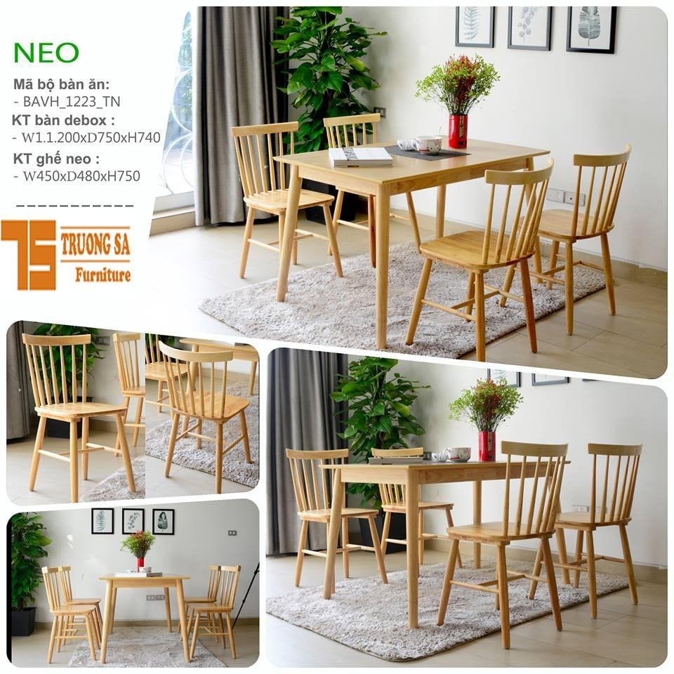 bàn ghế phòng ăn TS285B