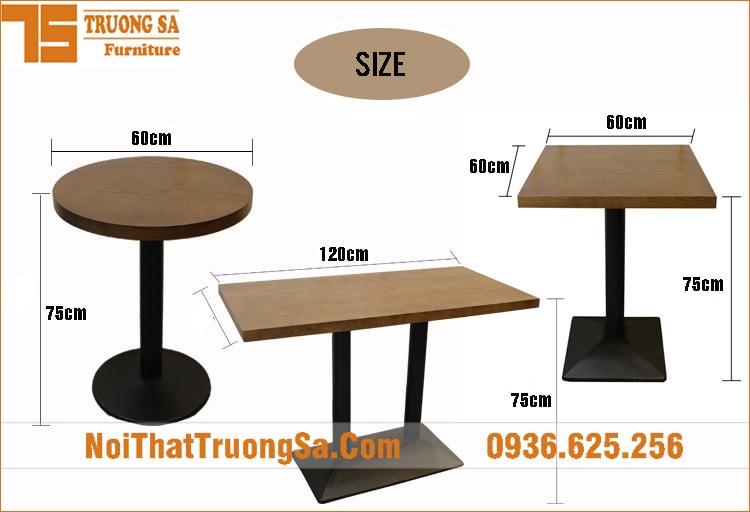 Bàn cà phê chân sắt TS523