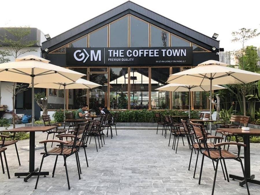 thiết kế quán cafe thép tiền chế