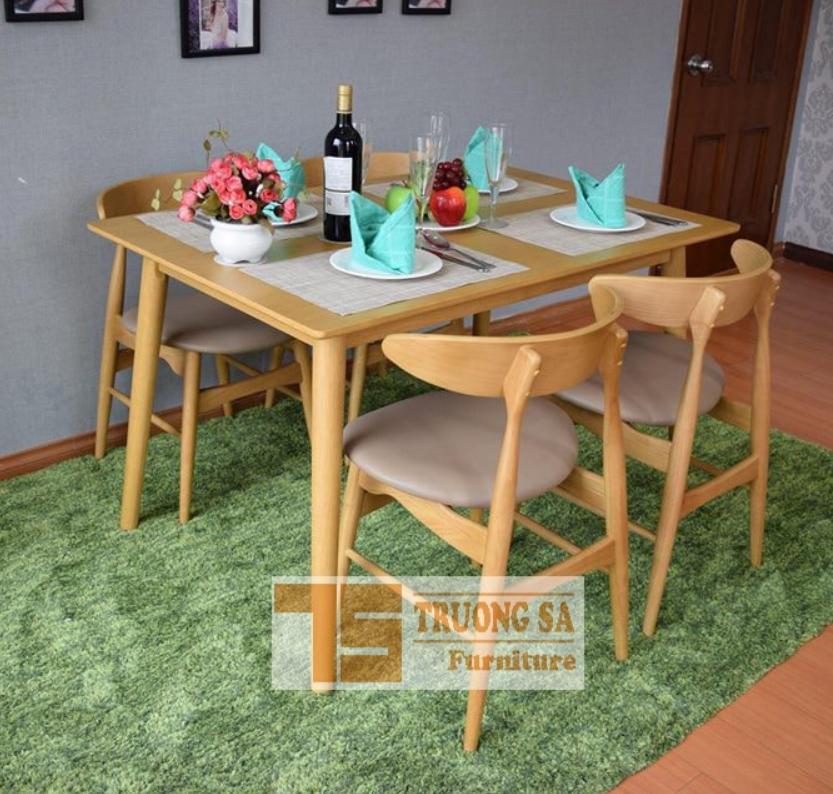 Bộ bàn ăn 4 ghế nhỏ gọn TS352