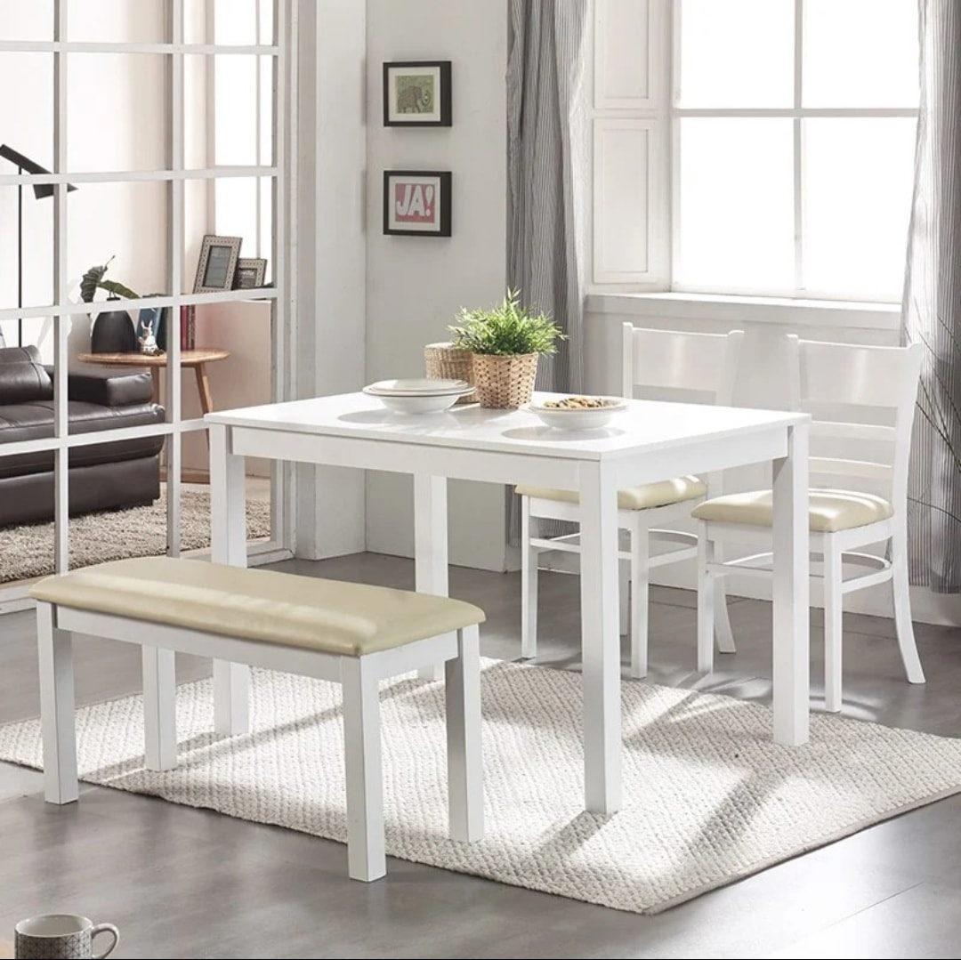 Bộ bàn ăn 2 ghế đơn – 1 ghế băng TS356