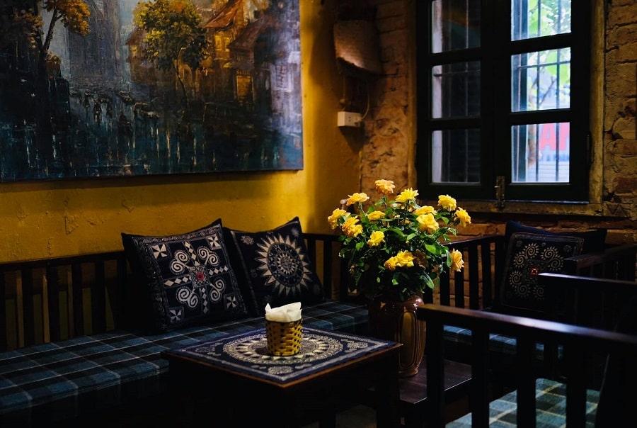 mặt bằng quán cafe