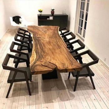 bàn ăn gỗ nguyên khối TS117