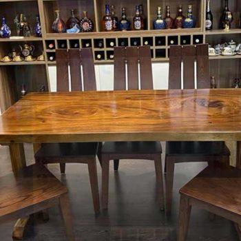 bàn ăn gỗ nguyên tấm TS112
