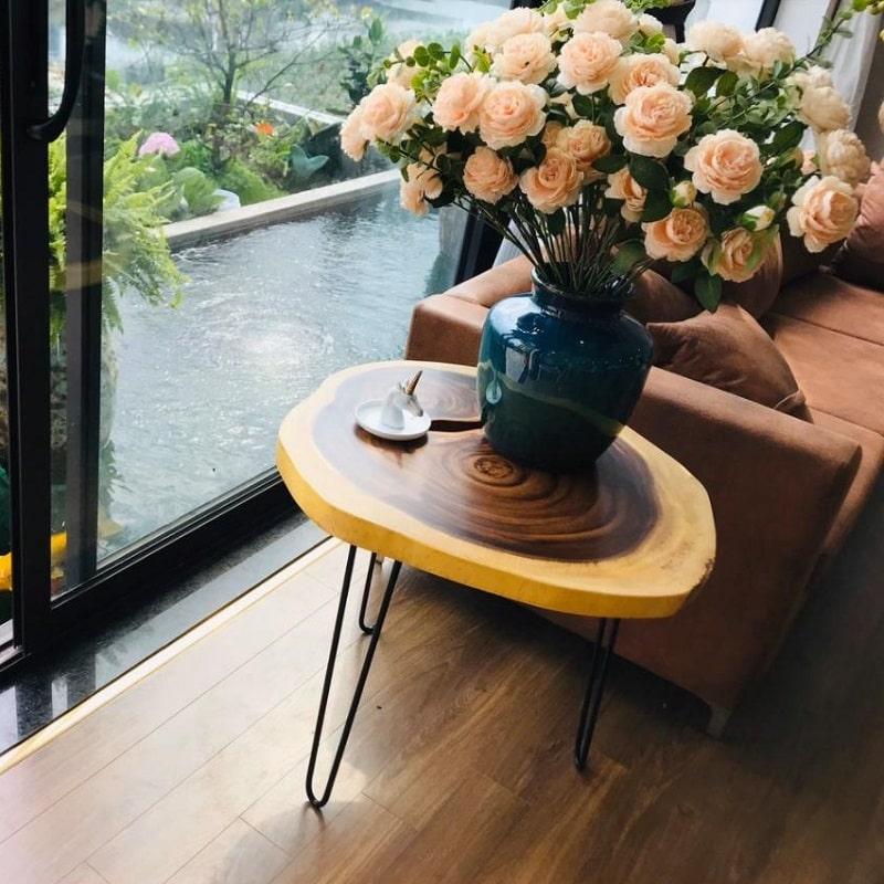 Bộ bàn gỗ nguyên khối giá rẻ TS129