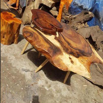 bàn trà gỗ nguyên khối TS140