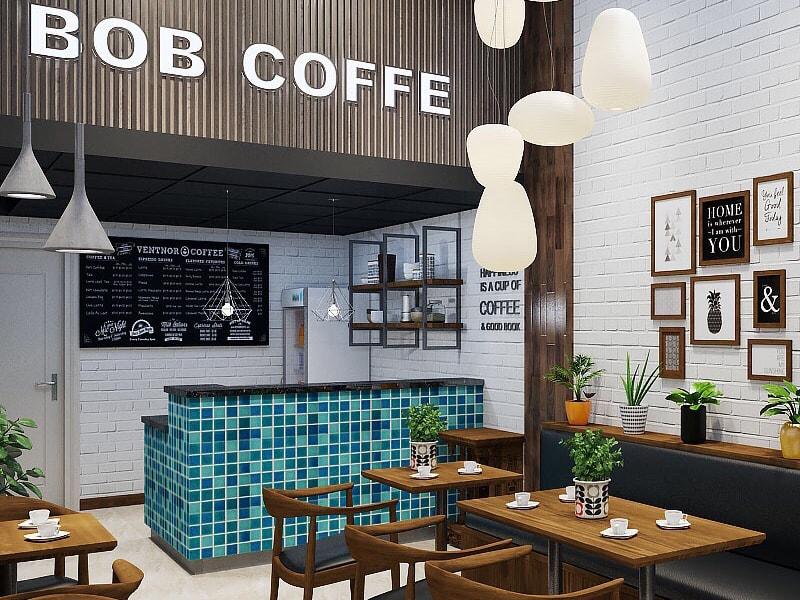 màu sơn quán cafe đẹp