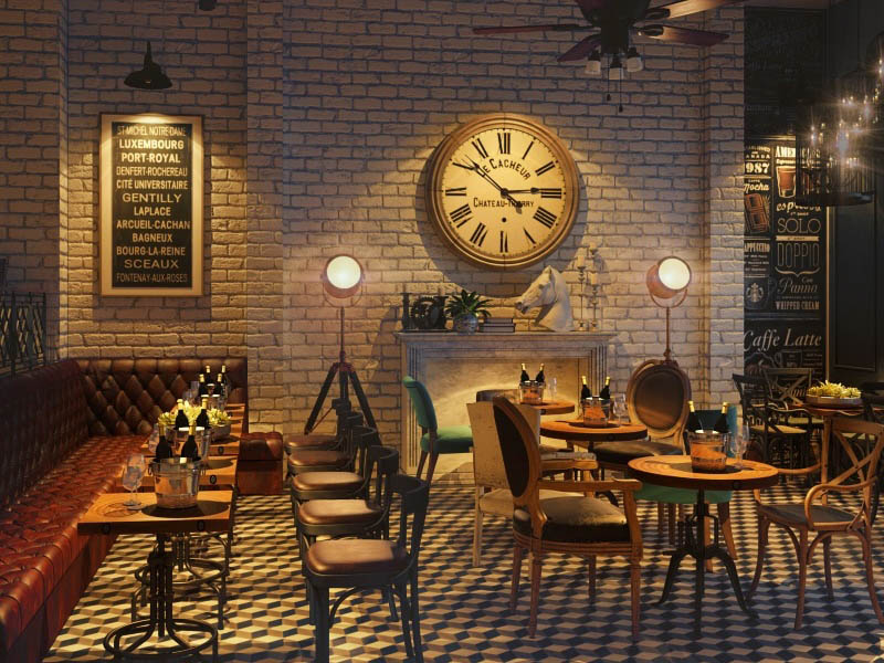 thiết kế quán cà phê ngoài trời