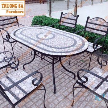 Mẫu bàn ghế ngoài trời đẹp TS124