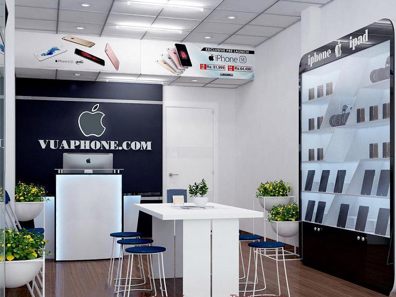 thiết kế cửa hàng điện thoại nhỏ