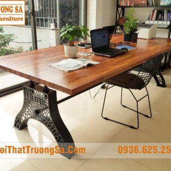 Chân bàn gỗ nguyên tấm đẹp TS602