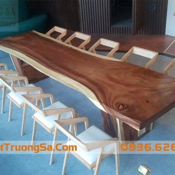 bộ bàn ghế gỗ nguyên khối TS451