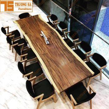 Bộ bàn ghế gỗ nguyên tấm phòng khách TS452