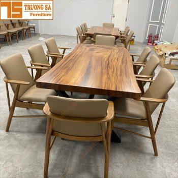 mặt bàn gỗ me tây nguyên tấm TS453