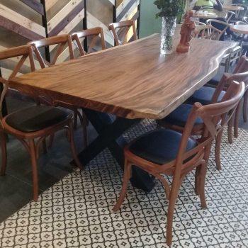 Mặt bàn gỗ tự nhiên nguyên khối TS319