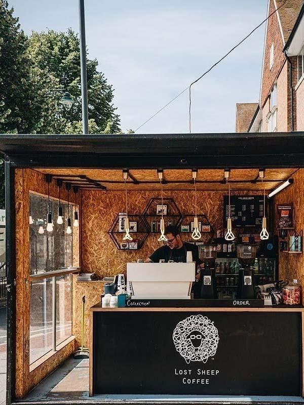 thiết kế quán cafe vỉa hè