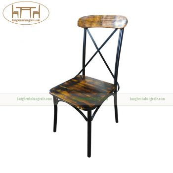ghế cafe khung sắt vintage