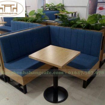 Sofa quán cafe chân sắt