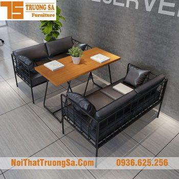 bàn ghế cafe sofa TS266