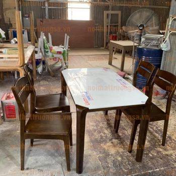 Bộ bàn ăn 4 ghế mặt đá TS398