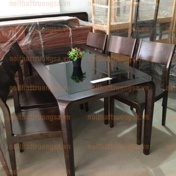 Bộ bàn ăn 6 ghế mặt kính TS388