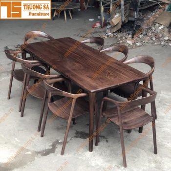 Bộ bàn ăn 8 ghế gỗ Sồi TS371