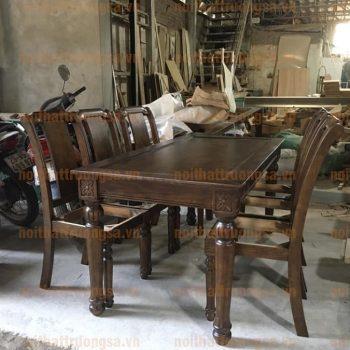 Bộ bàn ghế ăn tân cổ điển TS384