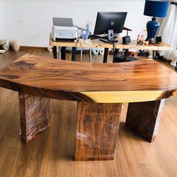 bàn làm việc gỗ nguyên tấm TS131
