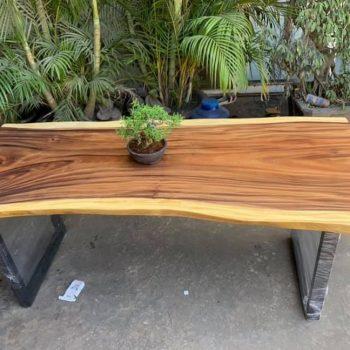 bàn làm việc gỗ nguyên tấm TS134