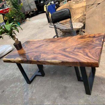 bàn làm việc gỗ nguyên tấm TS136